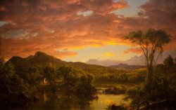 A Country Home by Frederic Edwin Church