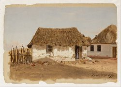 Colombia, Barranquilla, Two Houses by Frederic Edwin Church