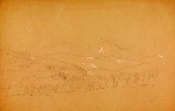 Distant View of The Katahdin Shown From West by Frederic Edwin Church
