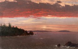 Schoodic Peninsula From Mount Desert at Sunrise by Frederic Edwin Church