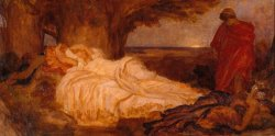 Colour Study for 'cymon And Iphigenia' by Frederic Leighton