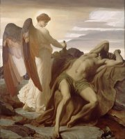 Elijah in The Wilderness by Frederic Leighton