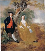 A Couple in a Landscape by Gainsborough, Thomas