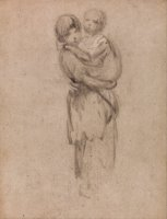A Young Girl Holding a Child by Gainsborough, Thomas
