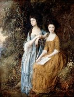 Elizabeth And Mary Linley by Gainsborough, Thomas