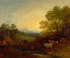 Landscape with Cattle by Gainsborough, Thomas