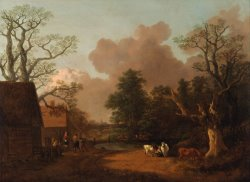 Landscape with Milkmaid by Gainsborough, Thomas