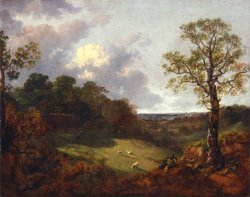 Wooded Landscape with a Cottage And Shepherd by Gainsborough, Thomas