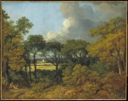 Wooded Landscape with a Peasant Resting by Gainsborough, Thomas