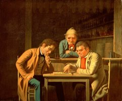 The Checker Players by George Caleb Bingham