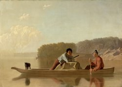 The Trapper's Return by George Caleb Bingham