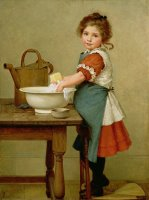This Is the Way We Wash Our Clothes by George Dunlop Leslie