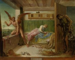 When Poverty Comes in at The Door Love Flies Out The Window by George Frederick Watts