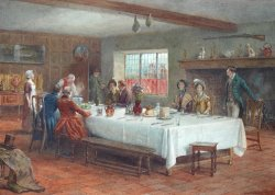 A Meal Stop at a Coaching Inn by George Goodwin Kilburne