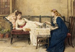 Afternoon Tea by George Goodwin Kilburne