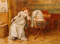 An Interior With A Mother And Child by George Goodwin Kilburne
