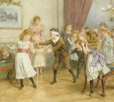 Blind Mans Buff by George Goodwin Kilburne