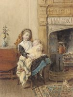 Minding Baby by George Goodwin Kilburne