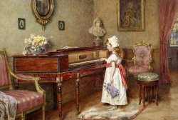 Piano Practice by George Goodwin Kilburne