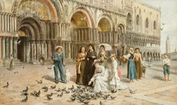 The Pigeons Of St Mark S by George Goodwin Kilburne