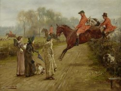 Watching The Hunt by George Goodwin Kilburne
