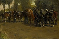 Cavalry at Repose by George Hendrik Breitner