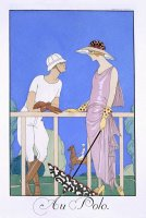 At Polo by Georges Barbier