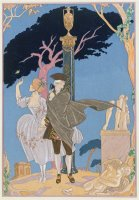 Broken Hearts Broken Statues Illustration for Fetes Galantes by Paul Verlaine 1844 96 by Georges Barbier
