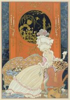 Illustration for Fetes Galantes by Paul Verlaine 1844 96 1928 Pochoir Print by Georges Barbier