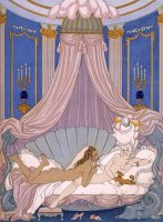 Scene From 'les Liaisons Dangereuses' by Georges Barbier