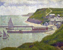 Harbour at Port En Bessin at High Tide by Georges Seurat