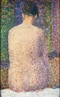 Model From The Back 1886 by Georges Seurat