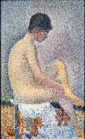 Model in Profile 1886 by Georges Seurat