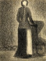 Nurse with a Child's Carriage by Georges Seurat