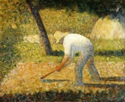 Peasant with Hoe (paysan a La Houe) by Georges Seurat