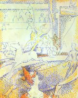 Study for The Circus 1891 by Georges Seurat