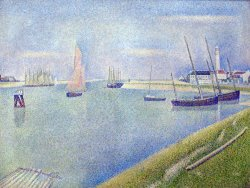 The Canal of Gravelines, in The Direction of The Sea by Georges Seurat