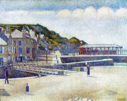 The Harbour And The Quays at Port En Bessin 1888 by Georges Seurat