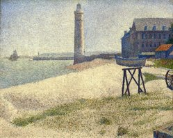 The Lighthouse at Honfleur by Georges Seurat