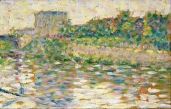 The Seine at Courbevoie by Georges Seurat
