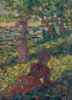 Woman in a Park by Georges Seurat