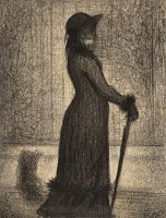 Woman Strolling by Georges Seurat