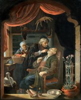 A Dentist Examining The Tooth of an Old Man by Gerrit Dou