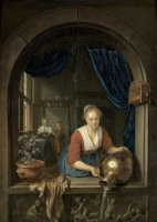 Maid at The Window by Gerrit Dou