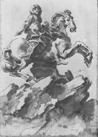 Design for The Equestrian Monument of Louis Xiv by Gian Lorenzo Bernini