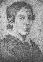 Portrait of a Young Man (selfportrait) by Gian Lorenzo Bernini