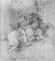 "Study for The Equestrian Monument of Constantine The Great"""" by Gian Lorenzo Bernini"