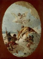 The Triumph of Valor Over Time (preparatory Sketch) by Giovanni Battista Tiepolo
