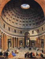 Interior of The Pantheon, Rome by Giovanni Paolo Pannini