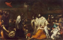Bernard Tolomei And The Plague in Siena by Giuseppe Maria Crespi